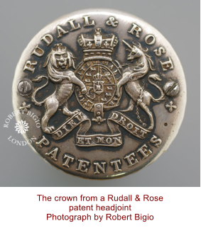 The crown from a Rudall & Rose patent headjoint Photograph by Robert Bigio